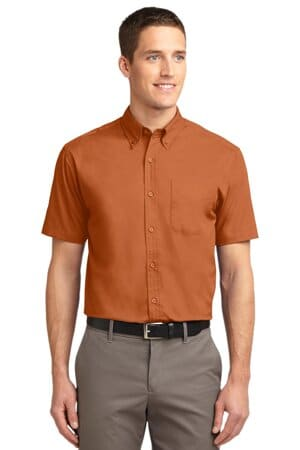 port authority tall short sleeve easy care shirt tls508