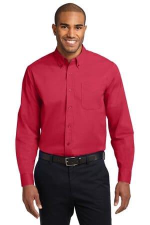 TLS608 port authority tall long sleeve easy care shirt