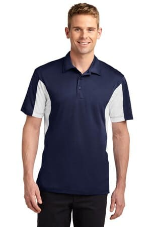 sport-tek tall side blocked micropique sport-wick polo tst655