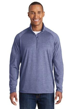 sport-tek tall sport-wick stretch 1/2-zip pullover tst850