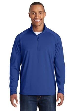 TST850 sport-tek tall sport-wick stretch 1/2-zip pullover