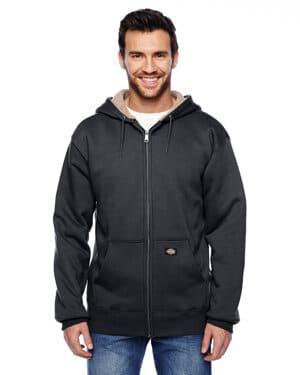 TW357 Dickies men's 450 gram sherpa-lined fleece hooded jacket