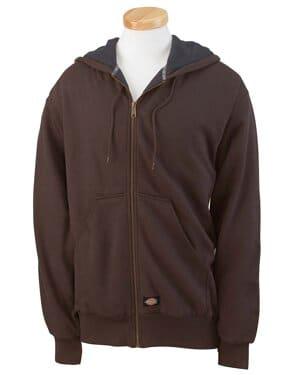 TW382 Dickies men's 470 gram thermal-lined fleece hooded jacket
