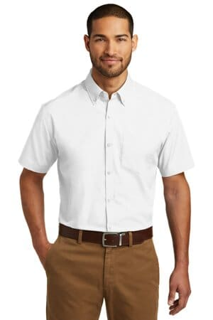 port authority short sleeve carefree poplin shirt w101