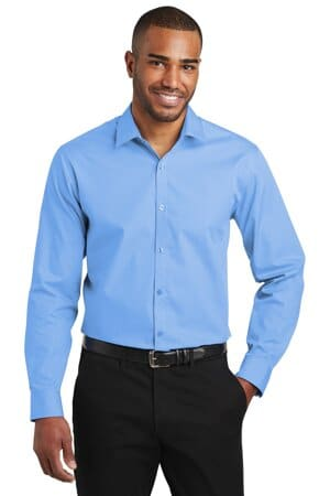 port authority slim fit carefree poplin shirt w103