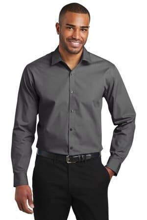 W103 port authority slim fit carefree poplin shirt