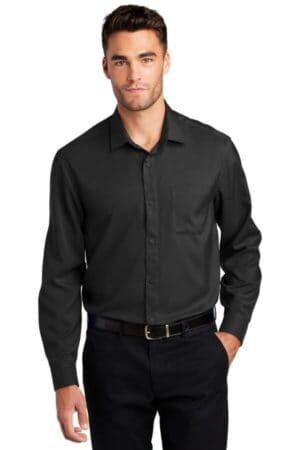 W401 port authority long sleeve performance staff shirt