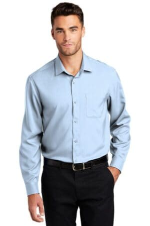 port authority long sleeve performance staff shirt w401