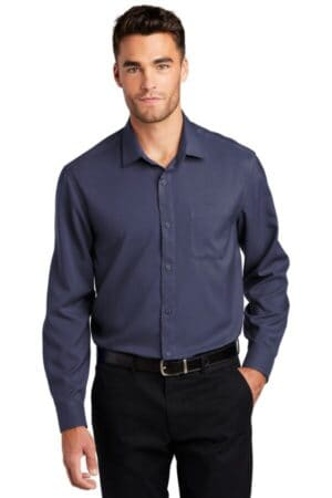 port authority long sleeve performance staff shirt w401