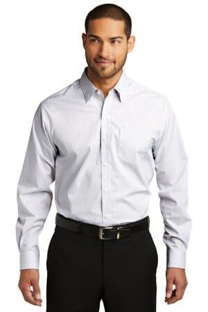 port authority micro tattersall easy care shirt w643