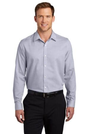W645 port authority pincheck easy care shirt w645