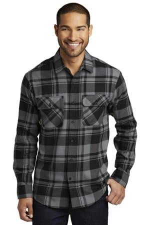 W668 port authority plaid flannel shirt w668