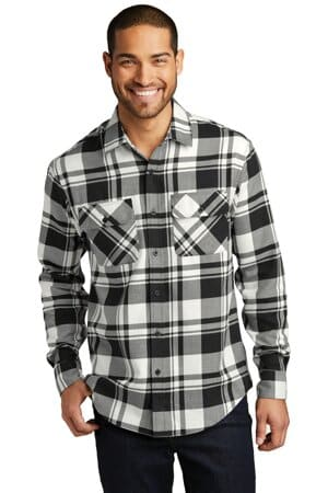 W668 port authority plaid flannel shirt