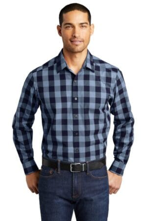 W670 port authority everyday plaid shirt