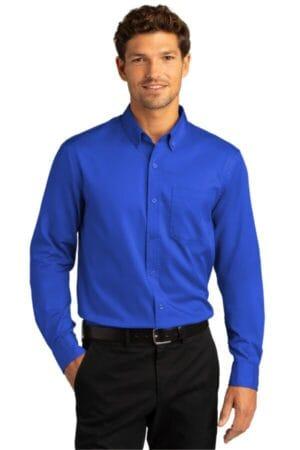 W808 port authority long sleeve superpro react twill shirt
