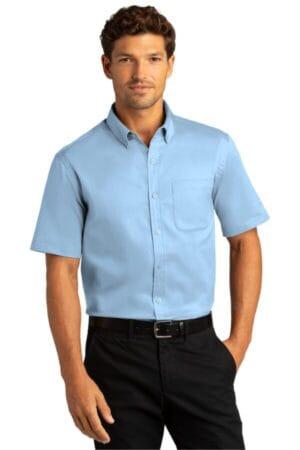 W809 port authority short sleeve superpro react twill shirt