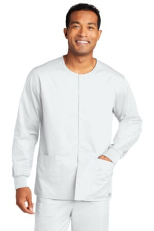 WW3080 wonderwink unisex workflex snap-front scrub jacket