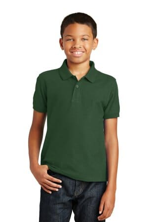 Y100 port authority youth core classic pique polo