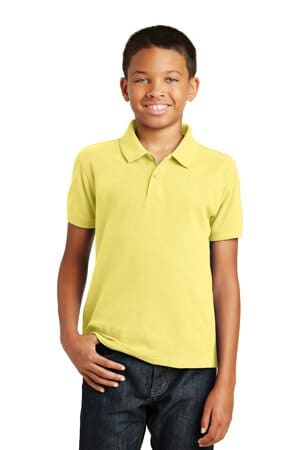 port authority youth core classic pique polo y100