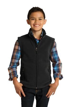 Y219 port authority youth value fleece vest y219
