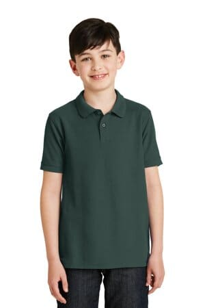 Y500 port authority youth silk touch polo y500