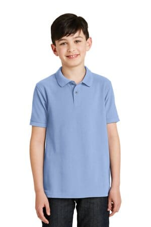 Y500 port authority youth silk touch polo