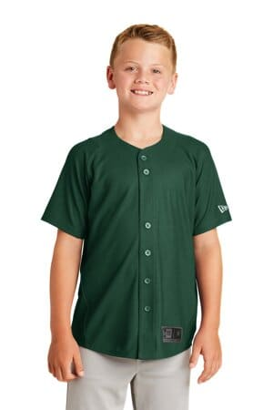 new era youth diamond era full-button jersey ynea220