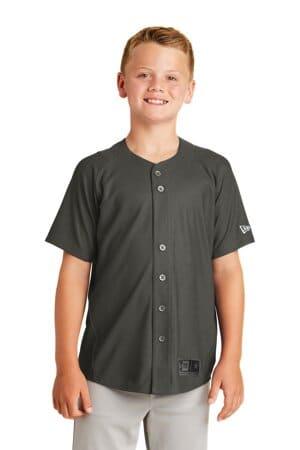 YNEA220 new era youth diamond era full-button jersey