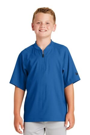 new era youth cage short sleeve 1/4-zip jacket ynea600