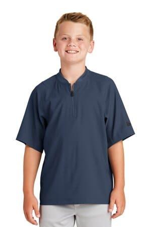 new era youth cage short sleeve 1/4-zip jacket ynea600