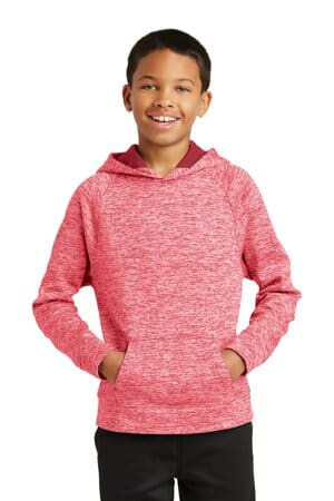 YST225 sport-tek youth posicharge electric heather fleece hooded pullover