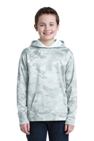 YST240 sport-tek youth sport-wick camohex fleece hooded pullover