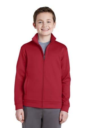 YST241 sport-tek youth sport-wick fleece full-zip jacket