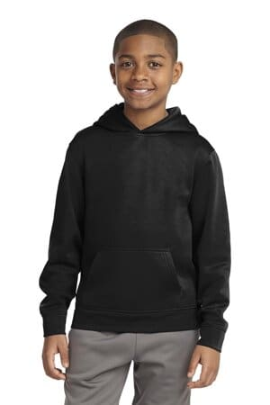 sport-tek youth sport-wick fleece hooded pullover yst244