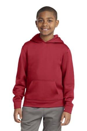 YST244 sport-tek youth sport-wick fleece hooded pullover