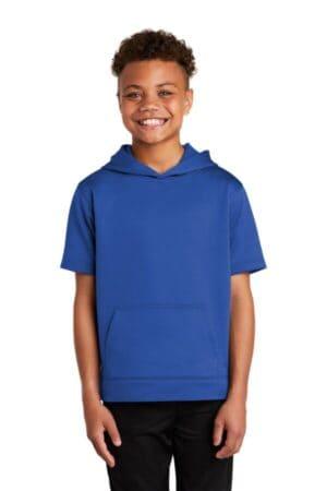 YST251 sport-tek youth sport-wick fleece short sleeve hooded pullover