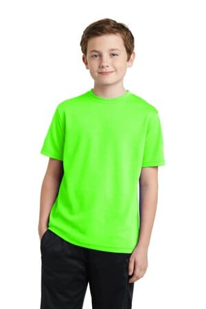YST340 sport-tek youth posicharge racermesh tee yst340
