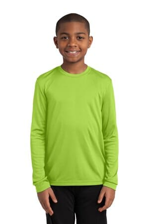 sport-tek youth long sleeve posicharge competitor tee yst350ls
