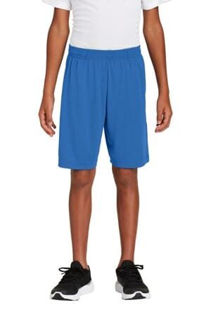 sport-tek youth posicharge competitor pocketed short yst355p