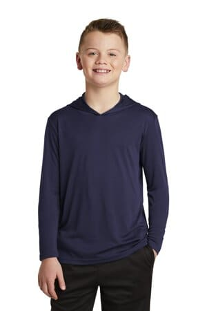 sport-tek youth posicharge competitor hooded pullover yst358