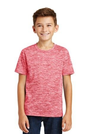 sport-tek youth posicharge electric heather tee yst390
