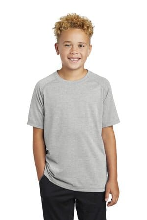 sport-tek youth posicharge tri-blend wicking raglan tee yst400