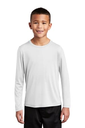 sport-tek youth posi-uv pro long sleeve tee yst420ls