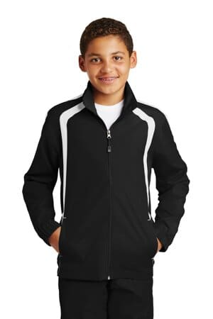 YST60 sport-tek youth colorblock raglan jacket yst60