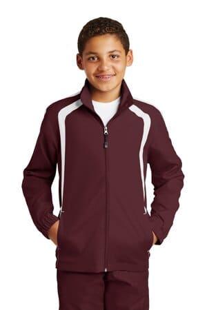 YST60 sport-tek youth colorblock raglan jacket yst60
