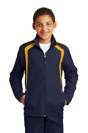 YST60 sport-tek youth colorblock raglan jacket