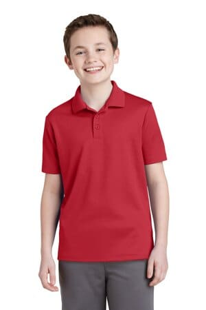 YST640 sport-tek youth posicharge racermesh polo yst640