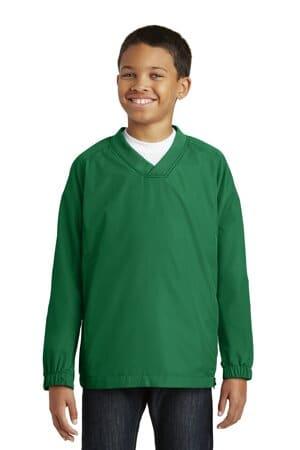 YST72 sport-tek youth v-neck raglan wind shirt yst72