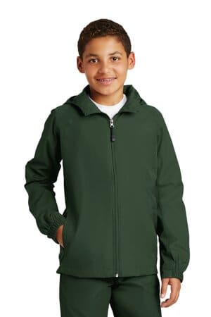 YST73 sport-tek youth hooded raglan jacket yst73