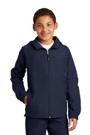 YST73 sport-tek youth hooded raglan jacket yst73